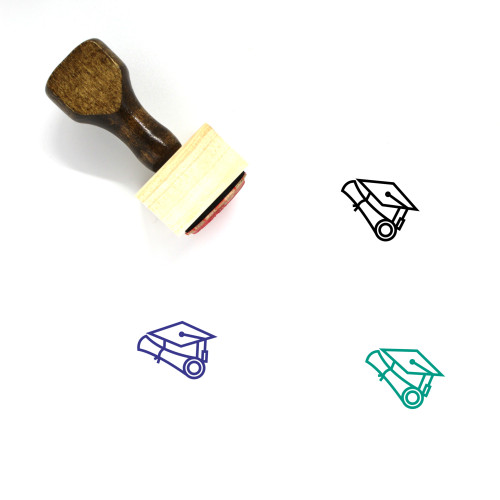 Academic Degree Wooden Rubber Stamp No. 19