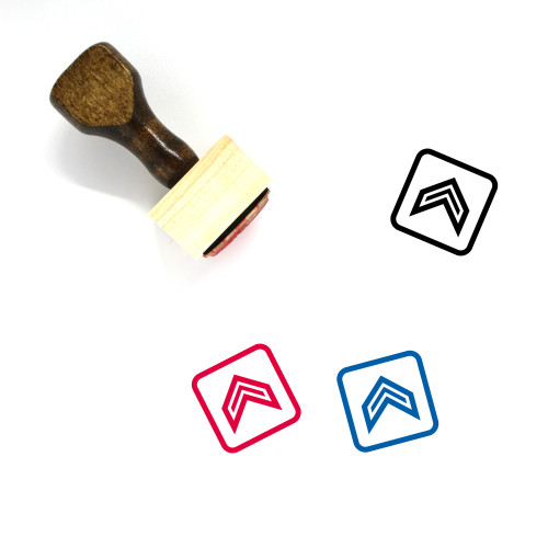Arrow Up Wooden Rubber Stamp No. 53