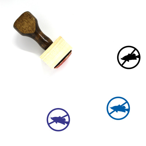 No Fishing Wooden Rubber Stamp No. 18