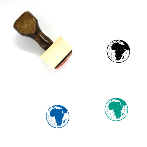 Africa Wooden Rubber Stamp No. 55