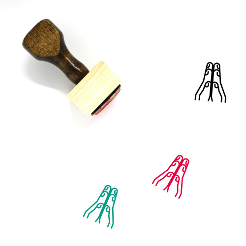 High Five Wooden Rubber Stamp No. 40