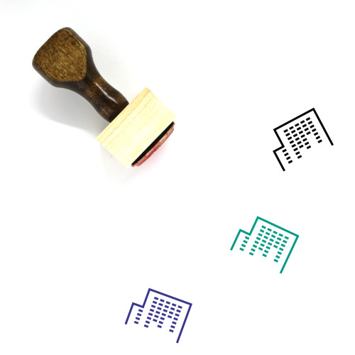 Office Building Wooden Rubber Stamp No. 32