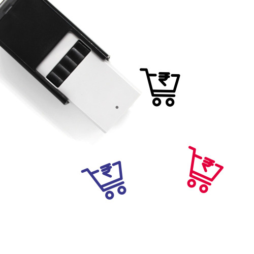 Rupee Cart Self-Inking Rubber Stamp No. 2
