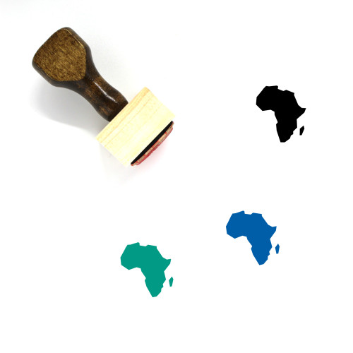 Africa Wooden Rubber Stamp No. 56