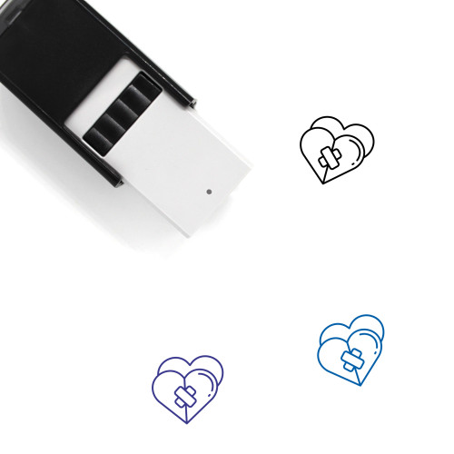 Break Heart Self-Inking Rubber Stamp No. 3