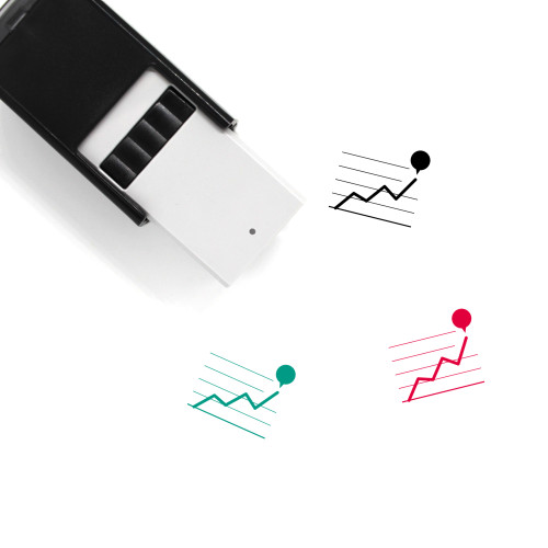 Line Graph Self-Inking Rubber Stamp No. 64