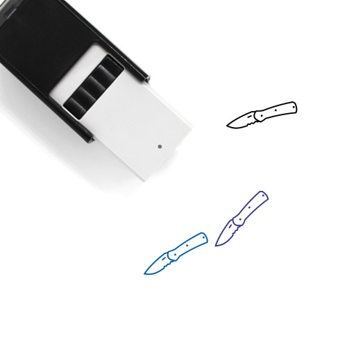 Knife Self-Inking Rubber Stamp No. 252