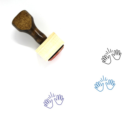 Jazz Hands Wooden Rubber Stamp No. 1