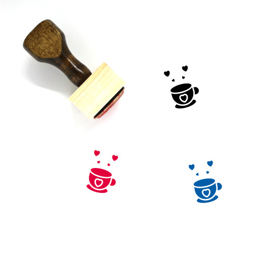 Coffee Love Wooden Rubber Stamp No. 15