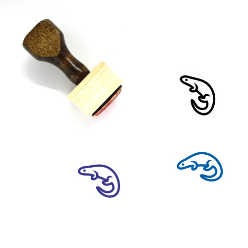 Newt Wooden Rubber Stamp No. 4