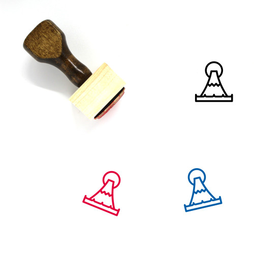 Fuji Wooden Rubber Stamp No. 3