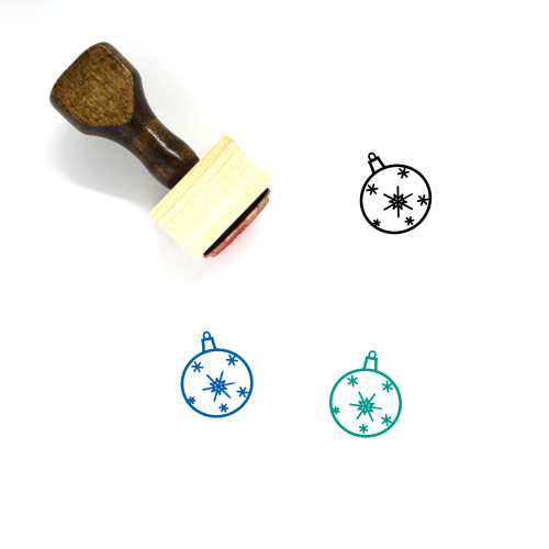 Ornament Wooden Rubber Stamp No. 183