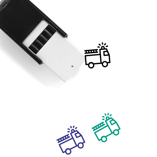 Firetruck Self-Inking Rubber Stamp No. 14