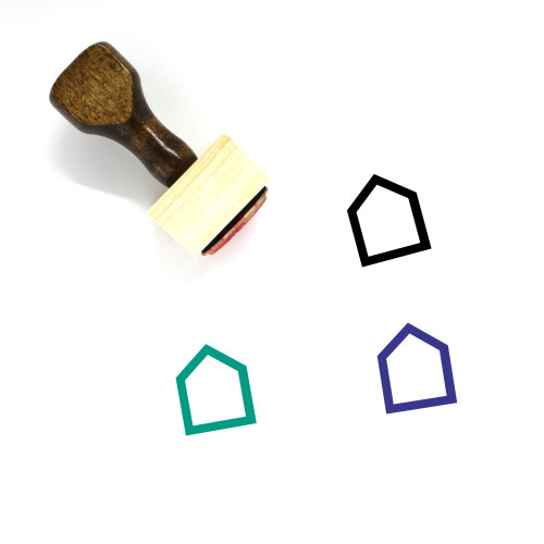 House Wooden Rubber Stamp No. 388