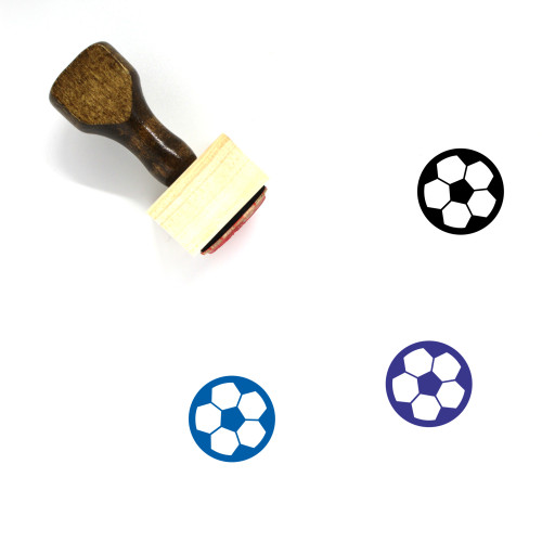 Soccer Wooden Rubber Stamp No. 48