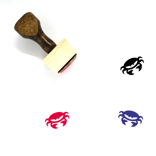 Crab Wooden Rubber Stamp No. 45