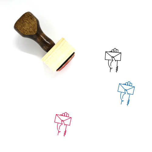 Mail Wooden Rubber Stamp No. 177
