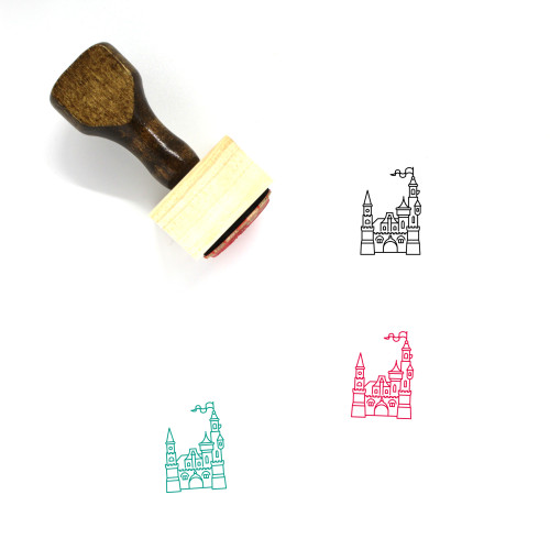 Castle Wooden Rubber Stamp No. 226