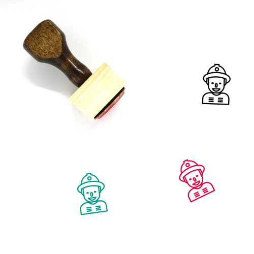 Fireman Wooden Rubber Stamp No. 27