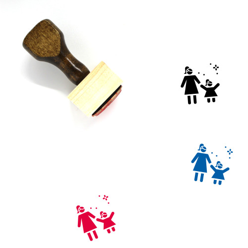 Women's Day Wooden Rubber Stamp No. 2