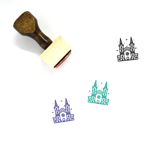 City Hall Wooden Rubber Stamp No. 29