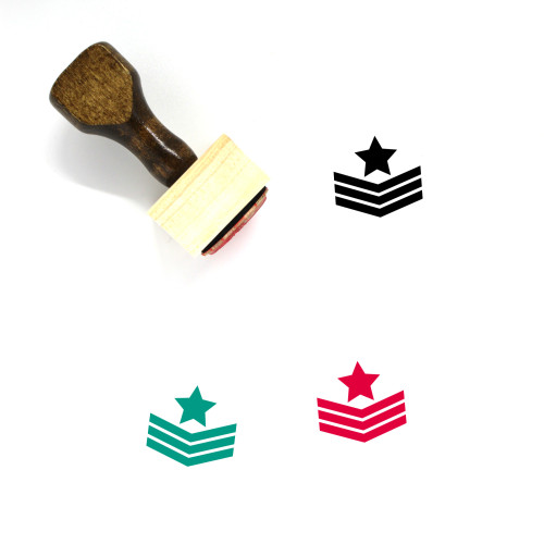 Military Rank Wooden Rubber Stamp No. 74