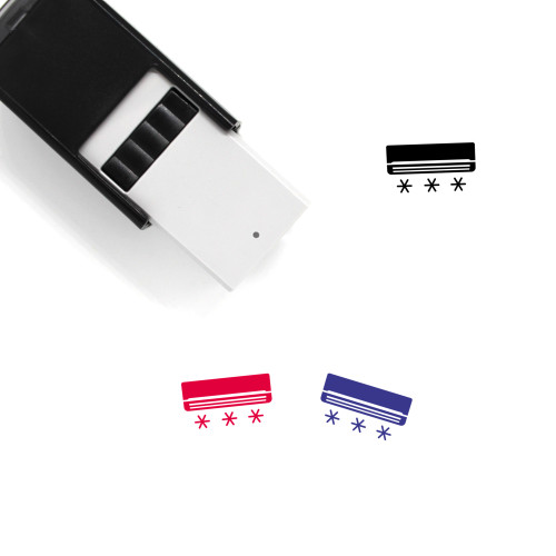 Air Conditioning Self-Inking Rubber Stamp No. 4