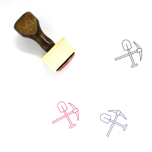 Kirk And Shovel Wooden Rubber Stamp No. 1