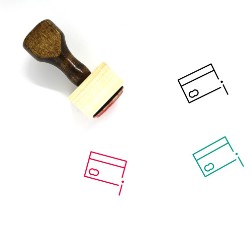Information Card Wooden Rubber Stamp No. 2