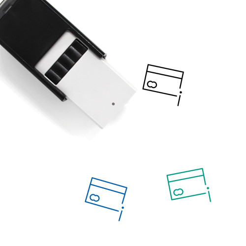 Information Card Self-Inking Rubber Stamp No. 2