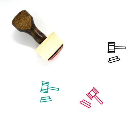 Law Wooden Rubber Stamp No. 271