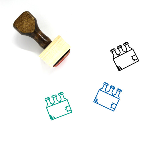 6 Pack Wooden Rubber Stamp No. 2