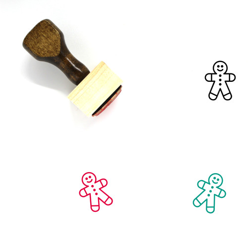 Gingerbread Man Wooden Rubber Stamp No. 100
