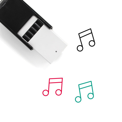 Music Note Self-Inking Rubber Stamp No. 76