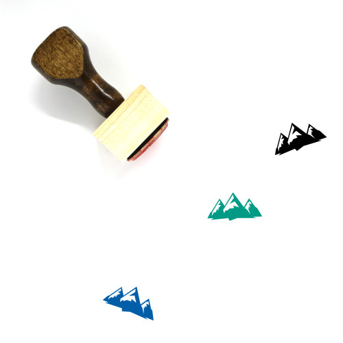 Mountains Wooden Rubber Stamp No. 279