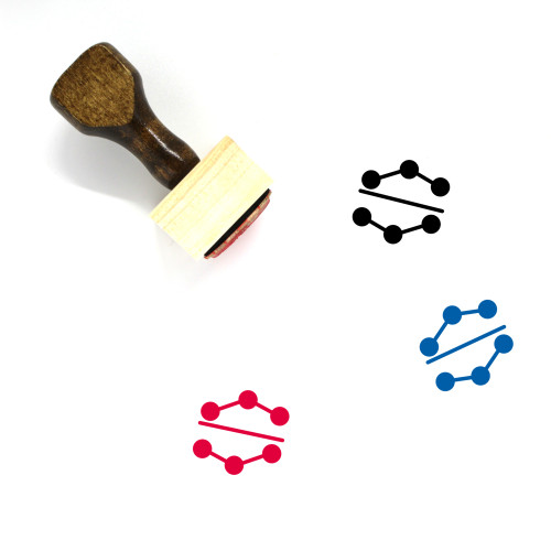 Dotted Chart Wooden Rubber Stamp No. 3