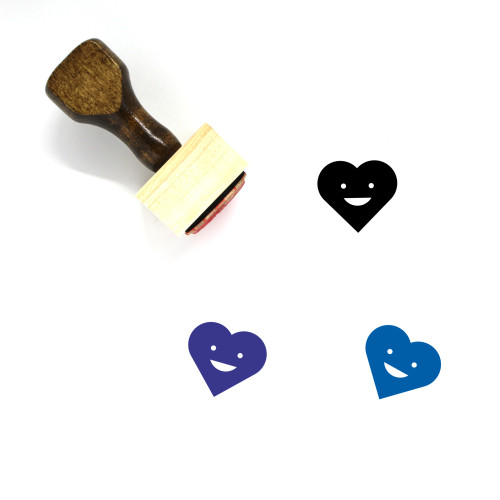 Heart Wooden Rubber Stamp No. 1483