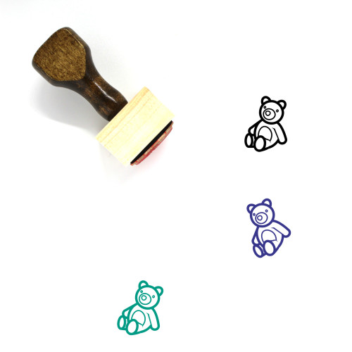 Teddy Bear Wooden Rubber Stamp No. 63