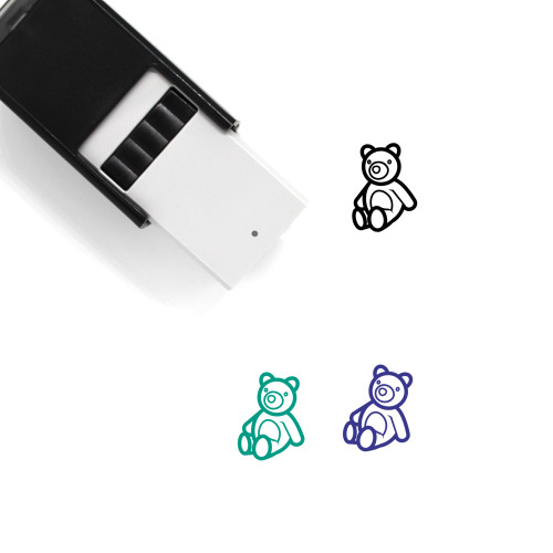 Teddy Bear Self-Inking Rubber Stamp No. 63