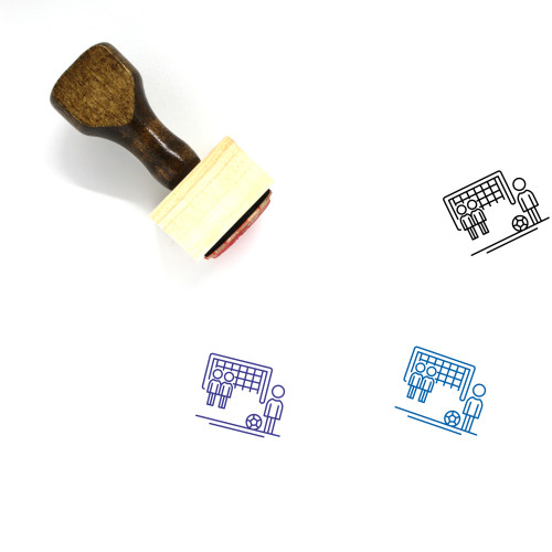 Free Kick Wooden Rubber Stamp No. 7
