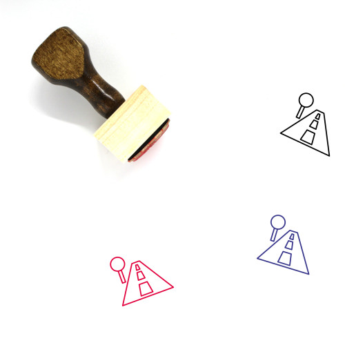 Street Wooden Rubber Stamp No. 12