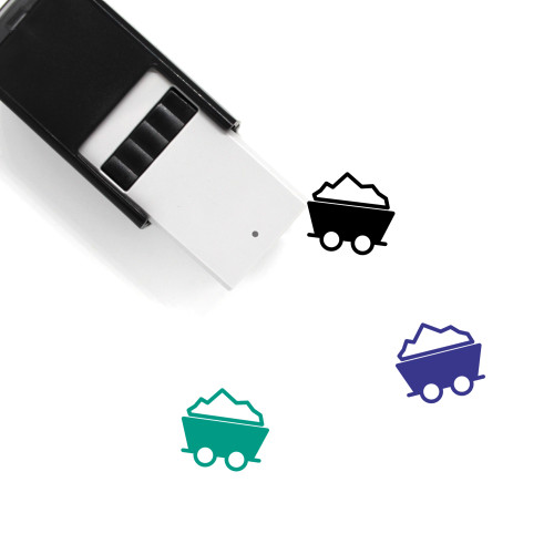 Mine Cart Self-Inking Rubber Stamp No. 29