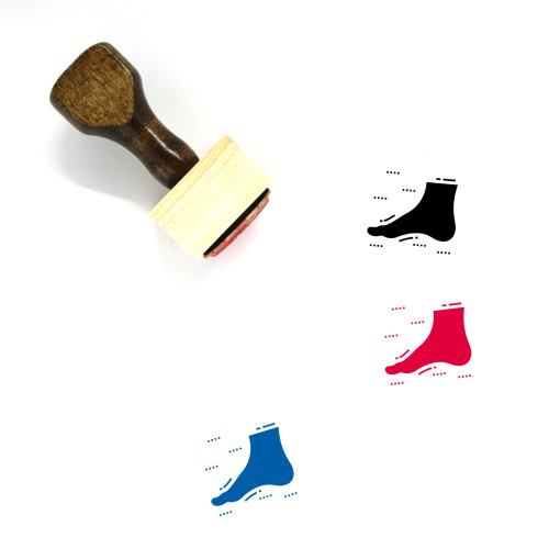 Foot Wooden Rubber Stamp No. 67