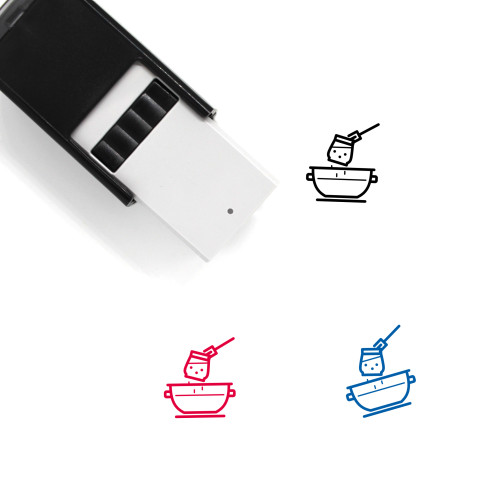 Cooking Porridge Self-Inking Rubber Stamp No. 3