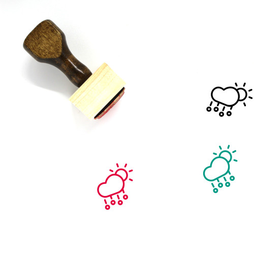 Hail Wooden Rubber Stamp No. 40