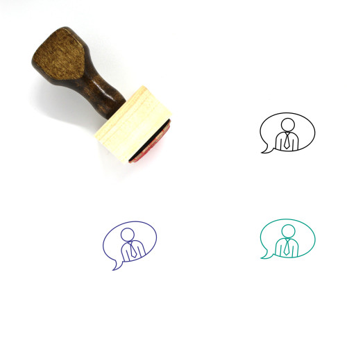 Business Chat Wooden Rubber Stamp No. 25