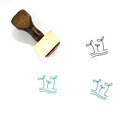 Sprouts Wooden Rubber Stamp No. 8