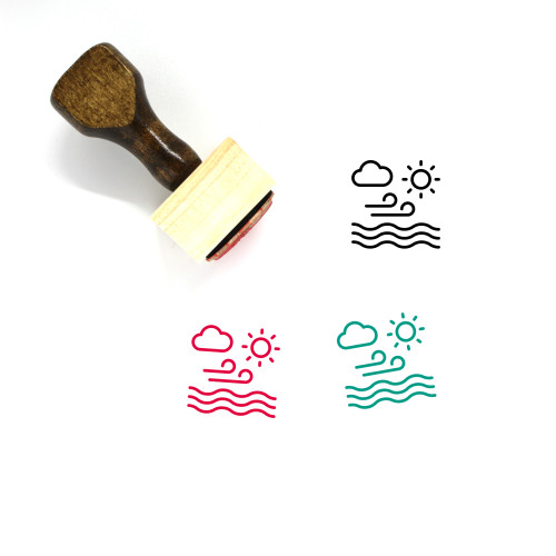 Calm Wooden Rubber Stamp No. 25