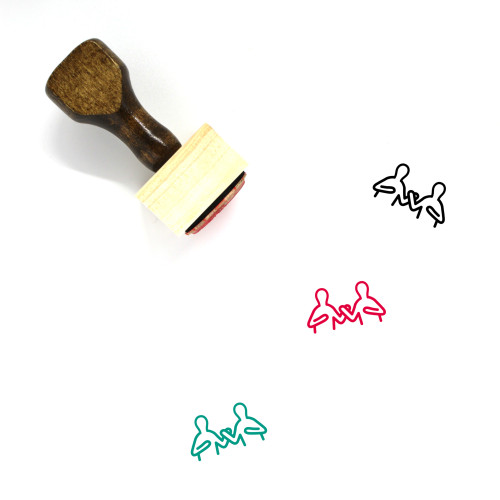 Fight Wooden Rubber Stamp No. 68