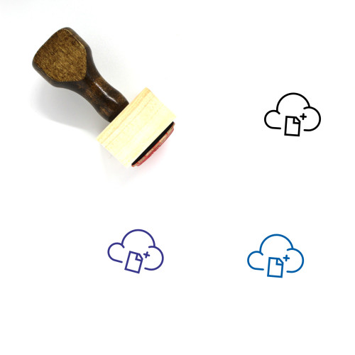 Cloud Document Wooden Rubber Stamp No. 40
